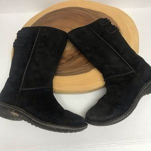 UGG 2 Tone Leather Mud Calf Boots Sherpa Lined